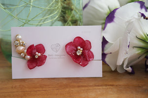 Asymmetrical Hydrangea Earrings - Clip On  イヤリング No.39