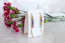 Floral Herbarium Stick Earrings [Mari] No.2