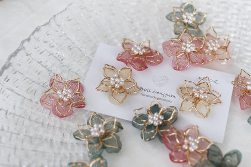 Two Layer Flower Earrings