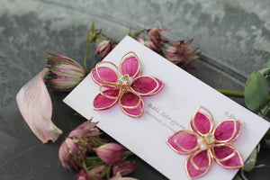 Large Two Layer Earrings (Pink Lavender)