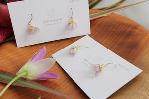 "Dangling Suzuran ""Lily of the Valley"" Earrings"