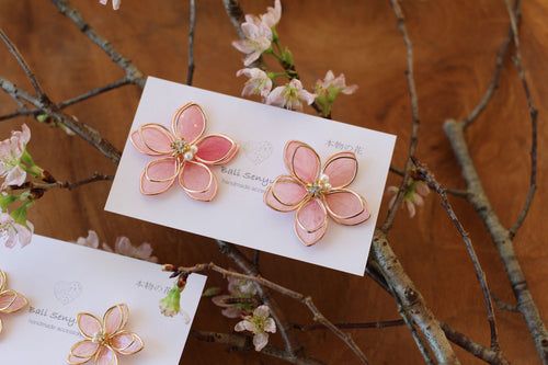 Large Two Layer Sakura Earrings