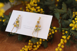Triangular Floral Earrings - Mimosa 2020