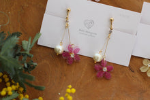 Dangling Sakura Earrings with Cotton Pearls 2020
