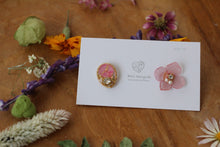 Hydrangea and Flower Medallion Gold Plated Pierce (メッキピアス)- No.12