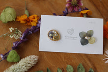 Hydrangea and Flower Medallion Gold Plated Pierce (メッキピアス)- No.10