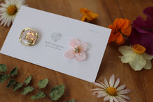 Hydrangea and Flower Medallion Gold Plated Pierce (メッキピアス)- No.17