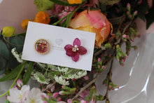 Hydrangea and Flower Medallion Gold Plated Pierce (メッキピアス)- No.18