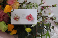 Hydrangea and Flower Medallion Gold Plated Pierce (メッキピアス)- No.26