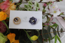 Hydrangea and Flower Medallion Gold Plated Pierce (メッキピアス)- No.20