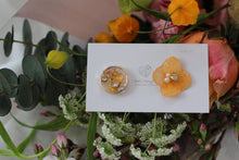 Hydrangea and Flower Medallion Gold Plated Pierce (メッキピアス)- No.5