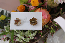 Hydrangea and Flower Medallion Gold Plated Pierce (メッキピアス)- No.3