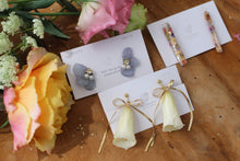 Pale Yellow Rose Bell Earring