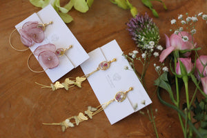 Butterfly & Flower Earrings