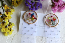 USA Flower Field Ribbon Earrings
