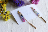 Floral Herbarium Stick Earrings [Mari]