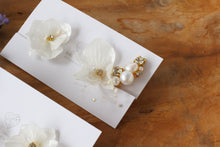 Asymmetrical Hydrangea Earrings - Clip On  イヤリング No.2