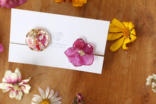 Hydrangea and Flower Medallion Gold Plated Clip-on (イヤリング)- No.40