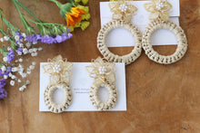 Yellow Three Layer Flower with Summer Hoop Earrings