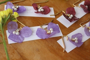 Flower Ponytail Hooks - Hydrangea Hair Jewelry