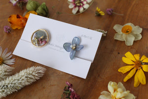 Hydrangea and Flower Medallion Gold Plated Clip-on (イヤリング)- No.15