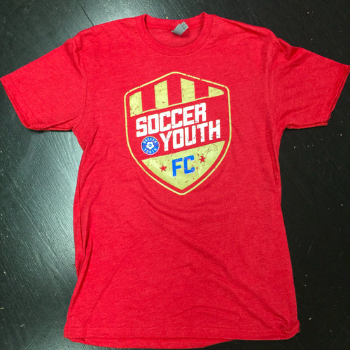 Soccer Youth FC Shield - T-Shirt (Red)