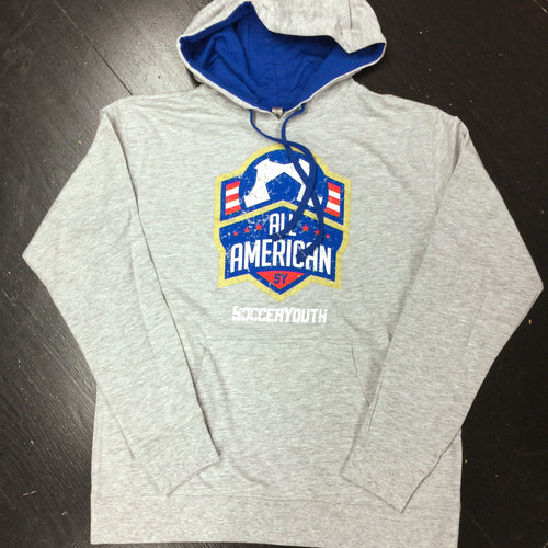 All-American - Hoodie (Grey/Blue)