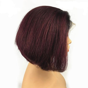 Lace Front Human Hair Pixie Cut Wig