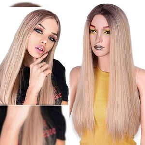 Straight Long Synthetic Wig (Blonde)