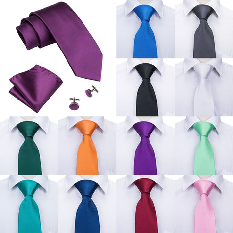 100% Silk Jacquard Woven Tie Set incl. handkerchief and cufflinks