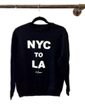 NYC TO LA CREW NECK SWEATSHIRT