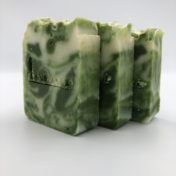3 bars of Minty Fresh, a handmade, organic soap bar