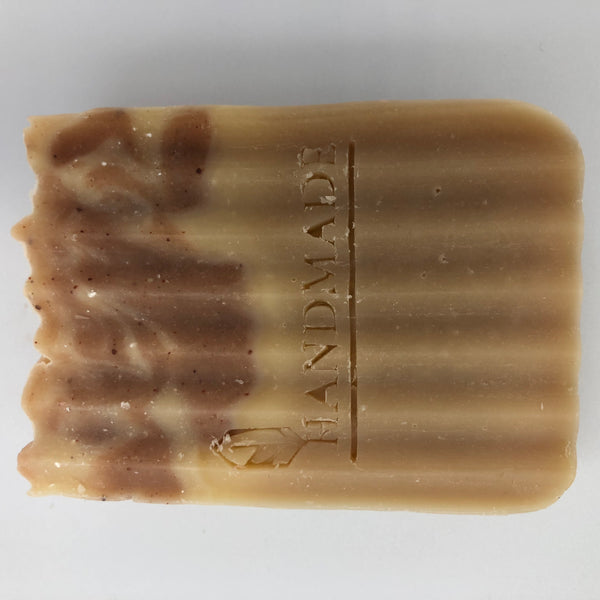 Front view of Sensitive, a handmade, organic shampoo bar