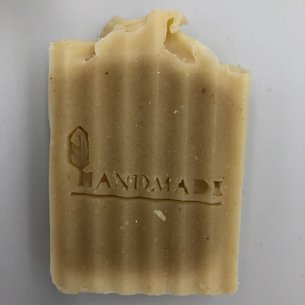 Front view of Sensitive, a handmade, organic soap bar