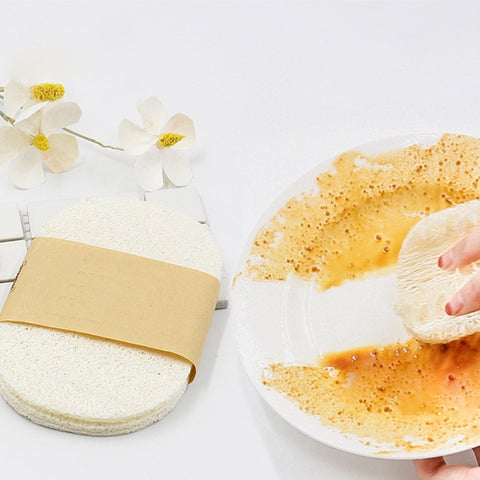 3PCS Natural Loofah Dish Pad / Dish Scrubber |  Washing Up The Natural Way