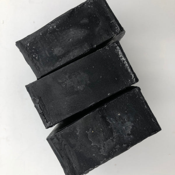 Top view of Fancy Black, a handmade, organic soap bar