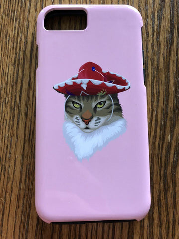 Cat with Hat - Custom Phone Case