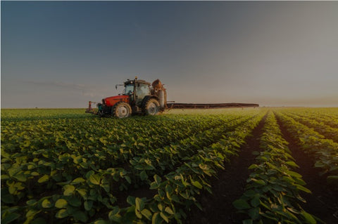 Photo of a tractor in the field