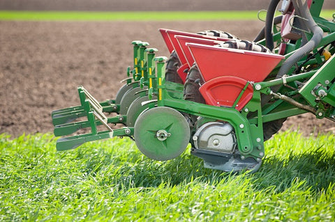 Image of seeder on a field