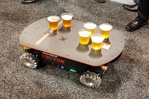 Photo of a robot with beer