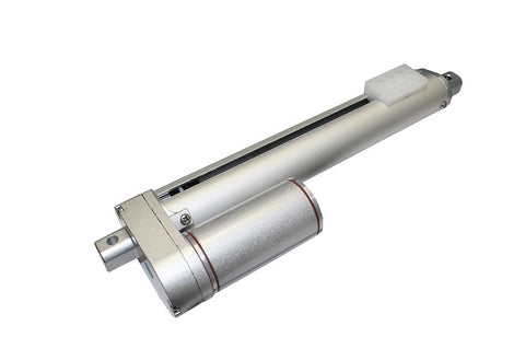 Photo of linear actuator on white background