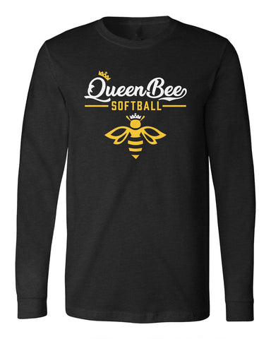 Queen Bee Softball Long Sleeve Tee