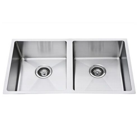 Sink - LimeTree Square Stainless Double Bowl Sink