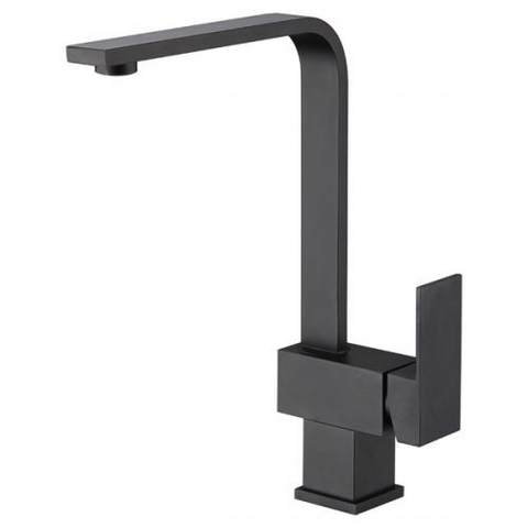 Tap - LimeTree Nautica Square Black Kitchen Mixer Tap