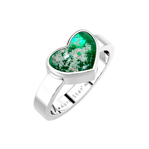 Aura-Star Ring Heart - Keepsake Jewellery