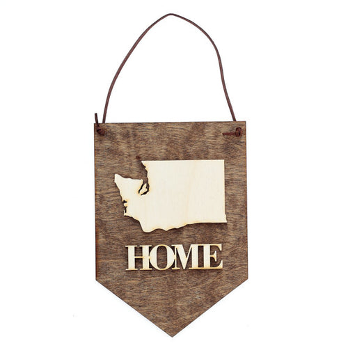 """HOME"" Laser Cut Wood Wall Hanging"