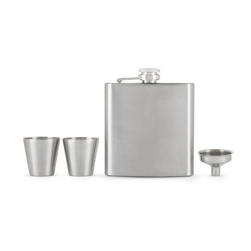 Fiasco Flask And Shot Glass Gift Set by True