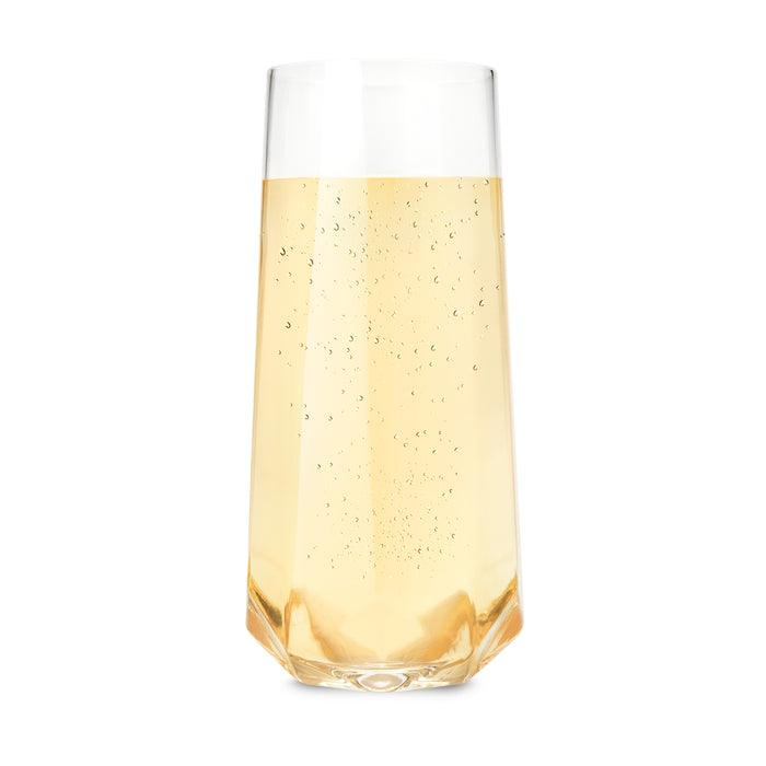 Raye™ Faceted Crystal Champagne Glass (Set of 2) by Viski