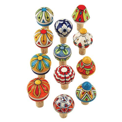 Country Cottage™ Assorted Ceramic Stoppers by Twine