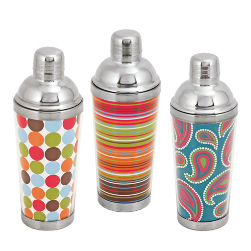 Spirit 16 Oz Patterned Cocktail Shakers by True
